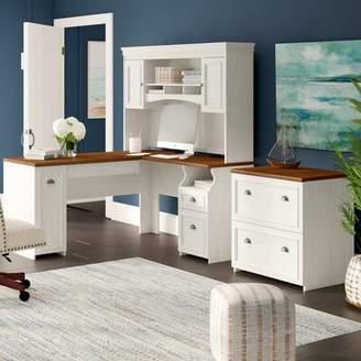 Beachcrest Home Oakridge 2 Piece Office Set with Hutch