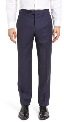 Men's Zanella Devon Flat Front Dot Wool Trousers $345 thestylecure.com