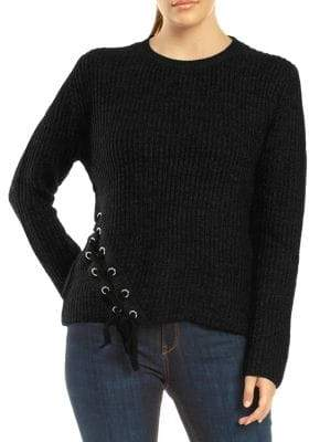 Dex Lace-Up Long-Sleeve Sweater
