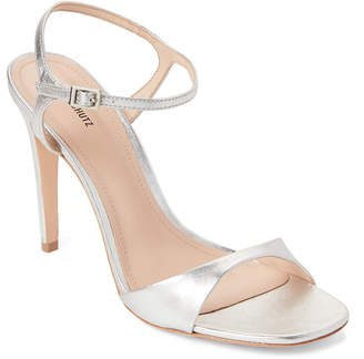 Schutz Silver Jade Metallic Leather High Heel Sandals