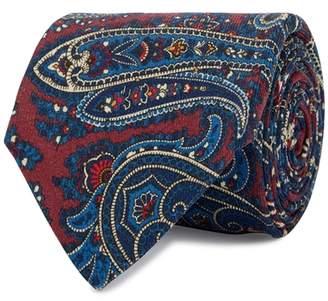 Eton Burgundy Paisley Wool Tie