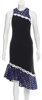 Jonathan Simkhai Lace-Paneled Midi Dress