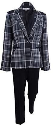 Tahari by Arthur S. Levine Women's Plaid Jacket Pant Suit