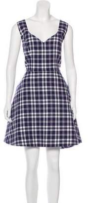 Natasha Zinko Plaid Knee-Length Dress