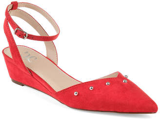 Journee Collection Womens Jc Aticus Pumps Buckle Round Toe Wedge Heel