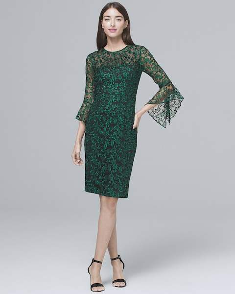 Whbm Embroidered Sheath Dress