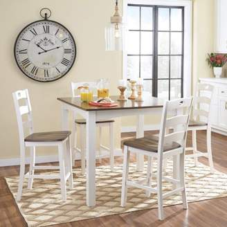 Signature Design by Ashley Woodanville Square 5 Piece Counter Height Dining Table Set