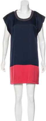 Haute Hippie Silk Bi-Color Dress