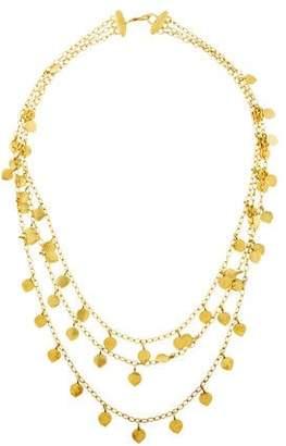 Me & Ro Me&Ro 18K Triple Lotus Necklace