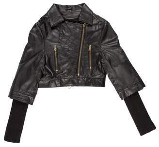 Preen by Thornton Bregazzi Preen Leather Cropped Jacket