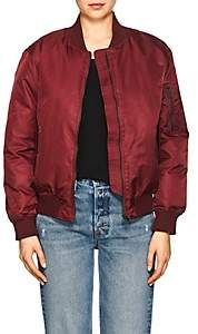 William Rast WOMEN'S TECH-TWILL BOMBER JACKET-RED SIZE M