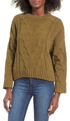 Women's J.o.a. Boxy Cable Knit Sweater