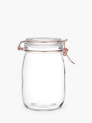 John Lewis House by Copper Wire Clip Top Jar, 1L