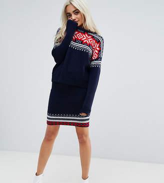 Asos Christmas Co-Ord Skirt In Fairisle