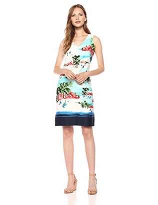 Chetta B Women's V-Neck Shift Dress