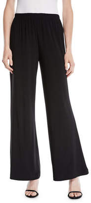 Caroline Rose Stretch-Knit Wide-Leg Pants