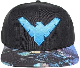 Bioworld Men's Licensed Nightwing Logo Sublimated Brim Snapback Hat O/S