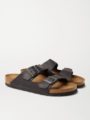 Birkenstock Arizona Oiled-Leather Sandals - Men - Black