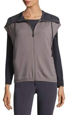 Peserico Contrast Rib Knit Vest