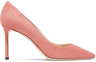 Jimmy Choo Romy 85 Suede Pumps - Peach