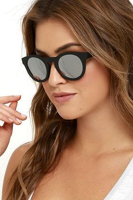 Apollo Black Mirrored Sunglasses $16 thestylecure.com