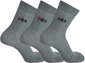 Fila 3 pairs of socks crew street sport Socks unisex 2.5 - 11 UK - different Colors: Colour: Grey | Size: 6-8 UK