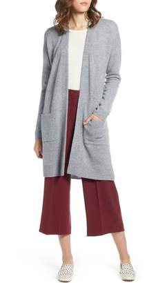 Halogen Rib Knit Wool & Cashmere Cardigan (Regular & Petite)