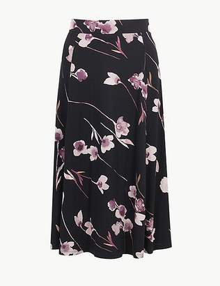Marks and Spencer Jersey Floral Print A-Line Skirt