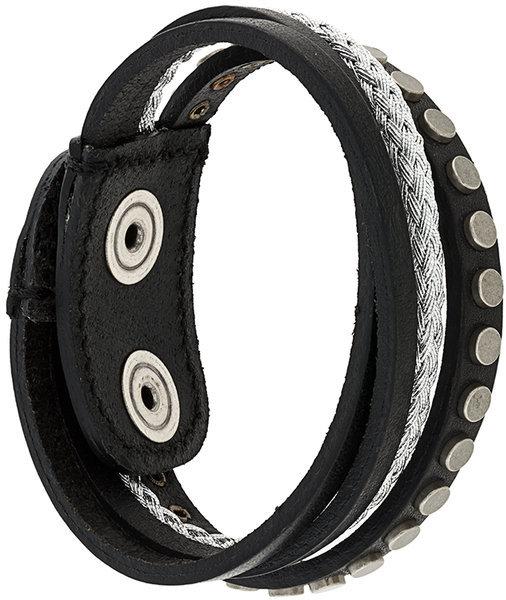 DieselDiesel layered studded bracelet