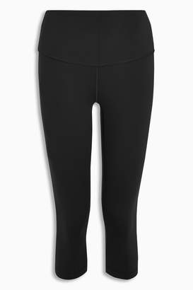 Next Womens Black Cropped High Waisted Sports Leggings