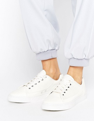 G-Star Thec Low White Sneakers $127 thestylecure.com