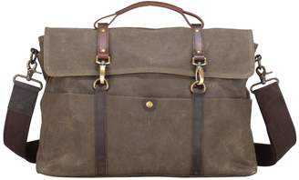 EAZO - Classic Waxed Canvas Laptop Messenger Bag in Green
