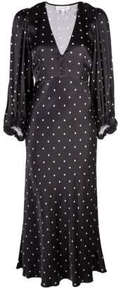 Shona Joy polka dot empire dress