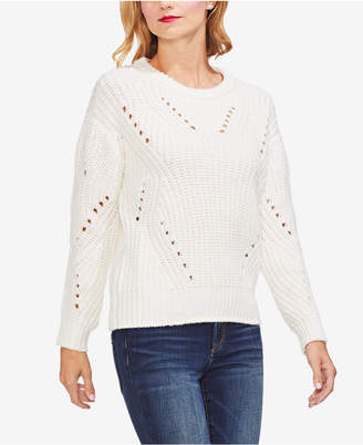 Vince Camuto Pointelle-Accented Sweater