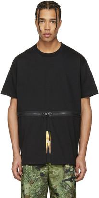 Givenchy Black Waist Zip T-Shirt $685 thestylecure.com