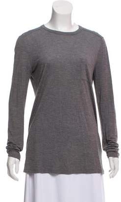 Alexander Wang Long Sleeve Crew Neck Top