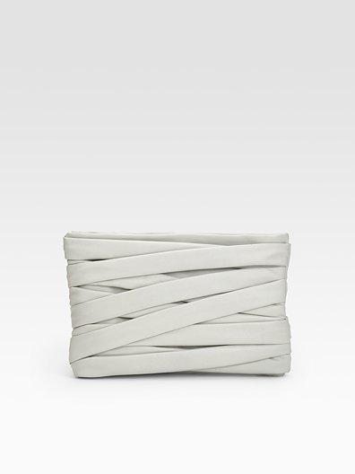 Maison Martin Margiela Leather Strip Clutch