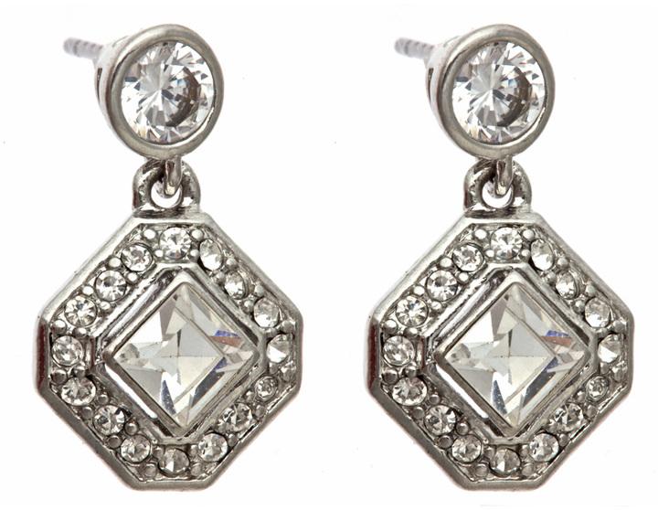 Carolee Crystal Diamond Drop Earrings