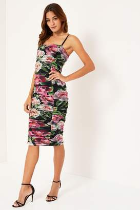 82117d426d6 Next Lipsy Mesh Floral Ruched Dress - 6