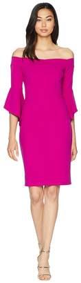 Bebe Off the Shoulder w/ Flowly Sleeve Dress Women's Dress
