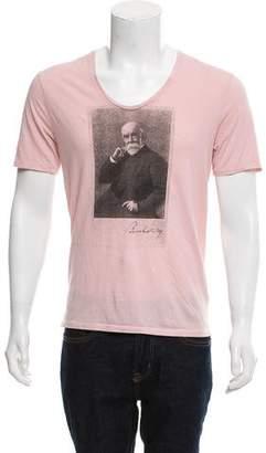 Burberry Graphic Print V-Neck T-Shirt