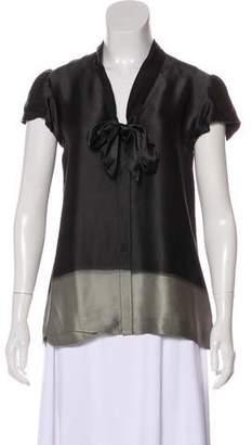d9d21ab0310ae Theory Silk Blouse - ShopStyle