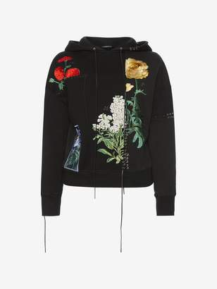 Alexander McQueen Embroidered Hooded Sweatshirt