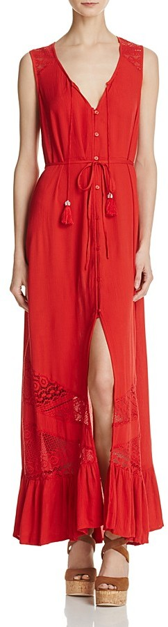 Band of Gypsies Lace-Inset Maxi Dress