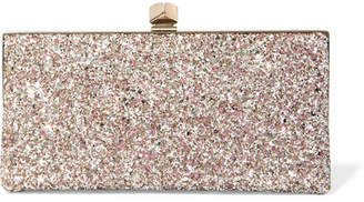 Jimmy Choo Celeste Glittered Leather Clutch - Pink