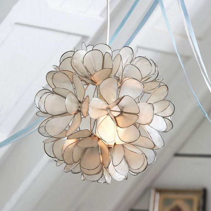 Capiz Blossom Pendant