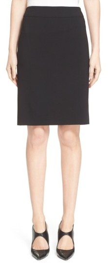 Women's Armani Collezioni Featherweight Wool Pencil Skirt