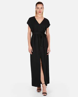 Express Tie Waist Short Sleeve Maxi Dress