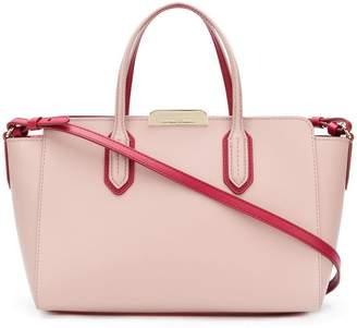 Emporio Armani Ea7 leather contrast tote bag