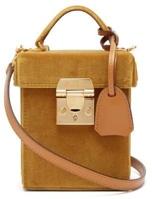 Mark Cross Grace Cube Velvet Bag - Womens - Gold